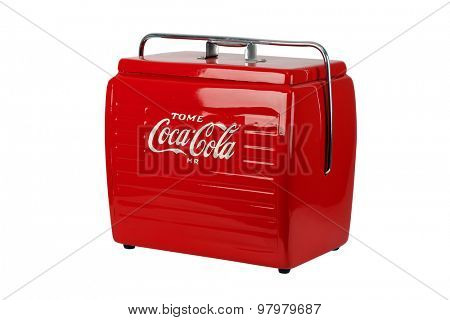 Brazil, Rio de Janeiro - August 5, 2015: Coke Cooler
