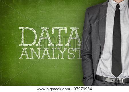 Data analyst on blackboard
