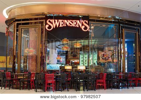 Exterior View Of A Swensen's Restaurant At The Siam Paragon Mall. Bangkok, Thailand.