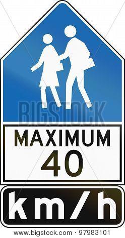 Maximum 40 Kmh - Old Version In Canada