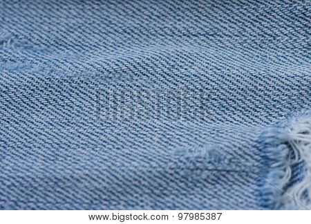 Old Torn Jeans Texture. Textile Background