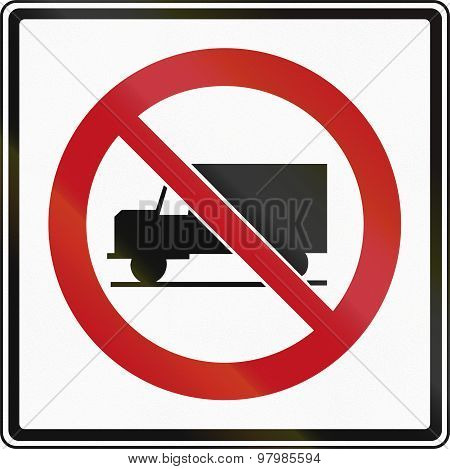 No Lorries In Canada
