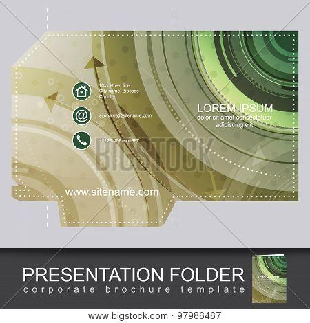 Presentation business folder, corporate brochure template