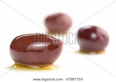 kalamata olives isolated on white