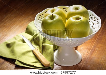 green apples in a centerpiece