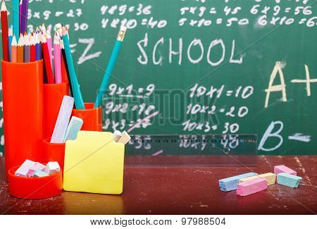 Colorful Stationary With Stick