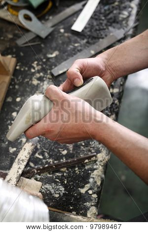 Designing shoes, hand made shoes for the shoemaker