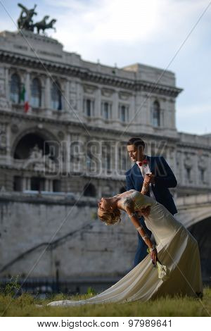 Wedding Pair At Corte Di Cassazione Italy Rome