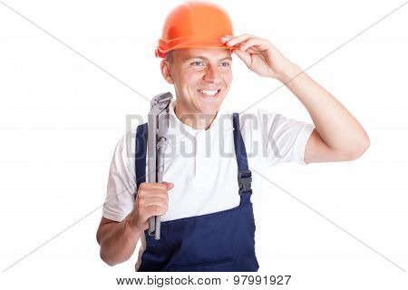 Smiling Handsome Handyman