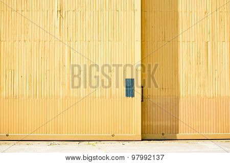 Yellow Hangar Door