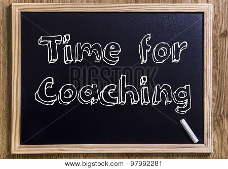 Time For Coaching