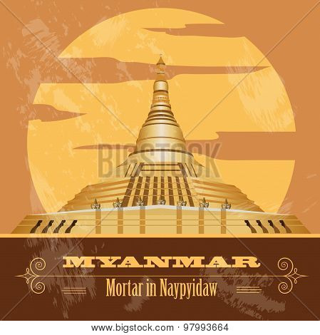 Myanmar (Burma)  infographics, statistical data, sights. Vector