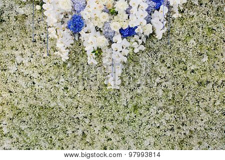 Luxury Indoors Wedding Backdrop Decorate By Flowers