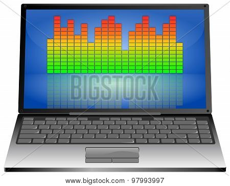Laptop computer with Equalizer