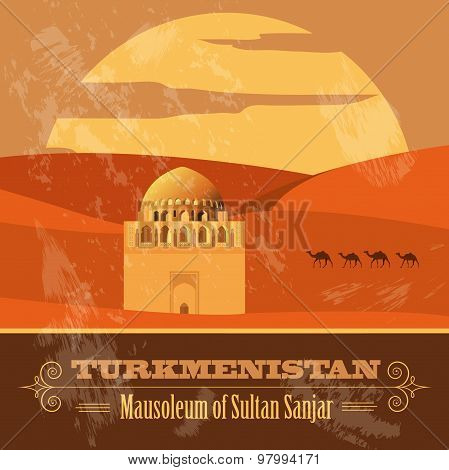 Turkmenistan  infographics, statistical data, sights. Vector