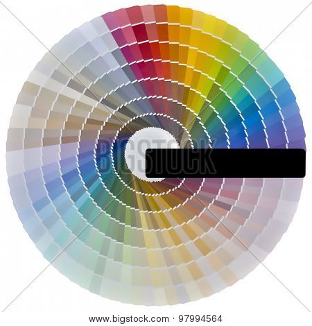 Pale Color Swatch Isolated with Clipping path