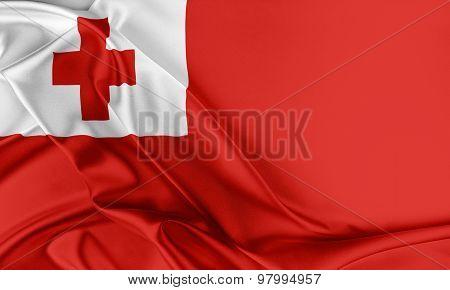 Tonga Flag.