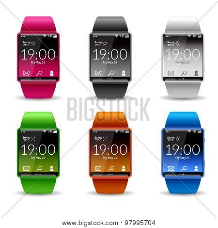 Smart Watch Icon Set