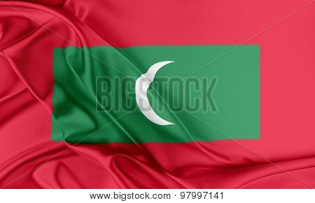 Maldives Flag.