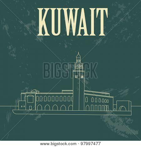 Kuwait  infographics. Palace Arantar lakeside Farakh