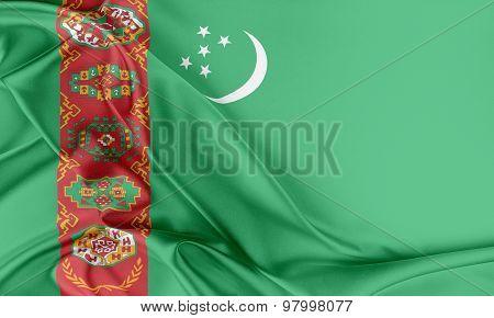 Turkmenistan Flag.