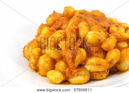 Closeup of potato dumplings