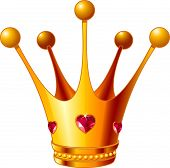 picture of princess crown  - Beautiful illustration of a gold Princess crown - JPG