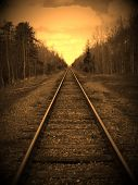 pic of train track  - An edidted photo of some train tracks - JPG