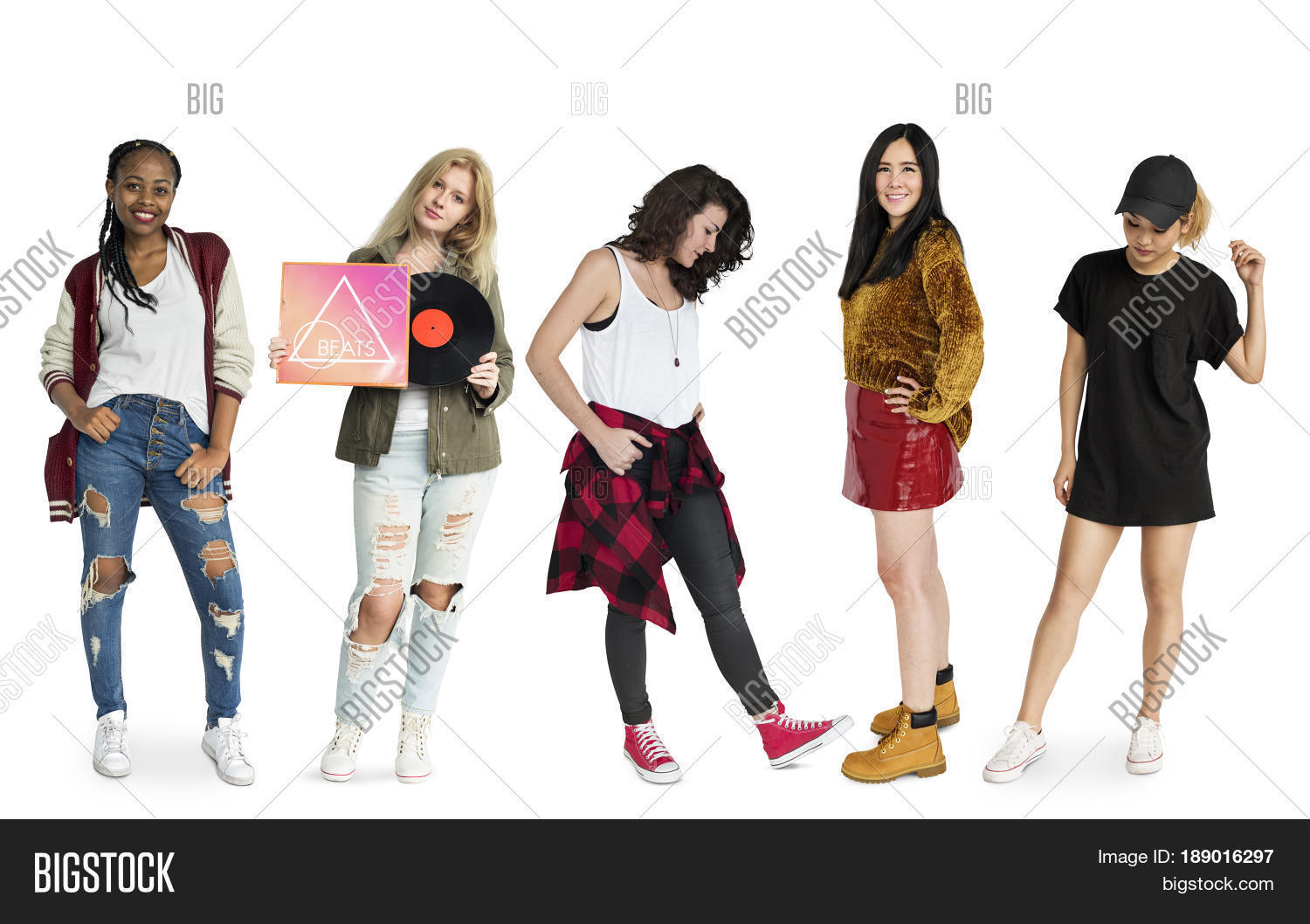 Group girls differences fashion image photo bigstock Different fashion style groups