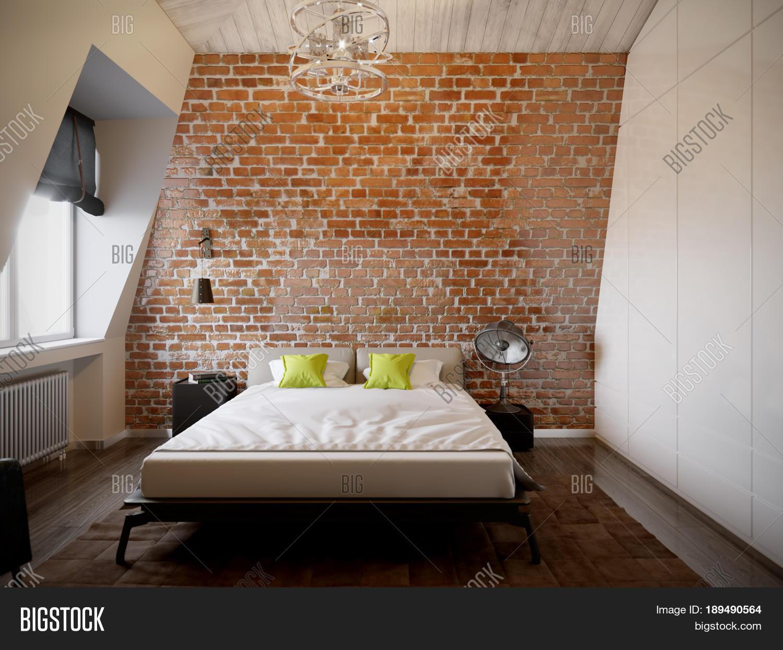urban contemporary modern scandinavian loft bedroom interior