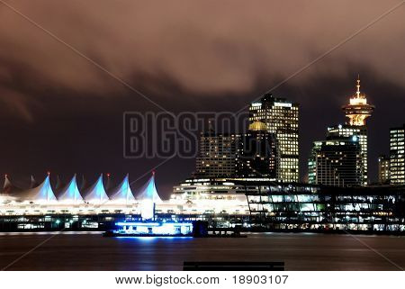 View of downtown Vancouver, English Bay Canada