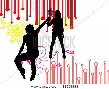 When man meets lovely girl