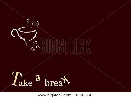 Drinking coffee when you take a break