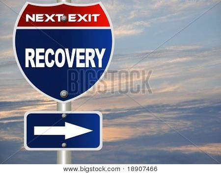 Recovery road sign