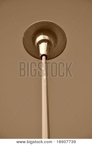Old road lamp photo