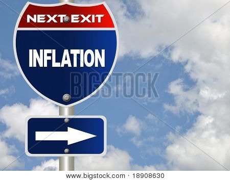 Inflation road sign