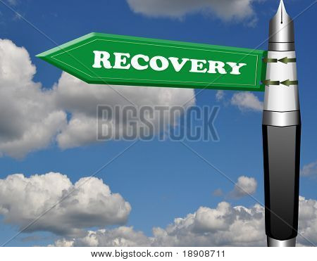 Recovery fountain pen road sign