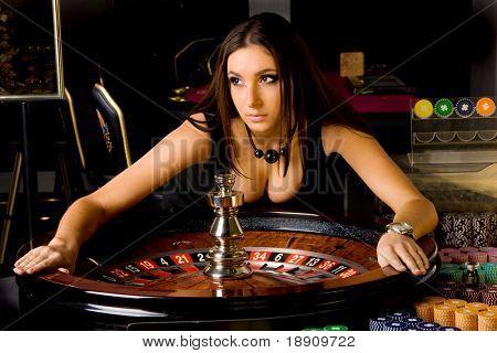 girl in casino