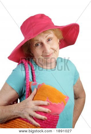 Summer Senior - Pink Hat