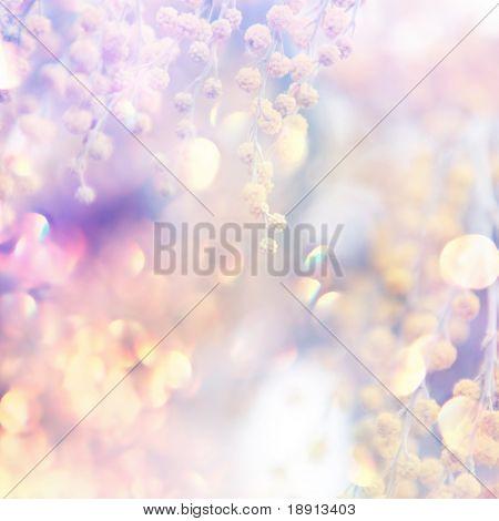 hermosas flores hechas con filtros de color