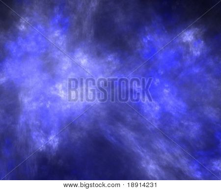 high res flame fractal forming a smooth darkblue sky background