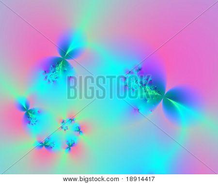 delicate, floral spiral background