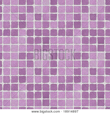 seamless tileable background of lilac ceramic tiles or wall
