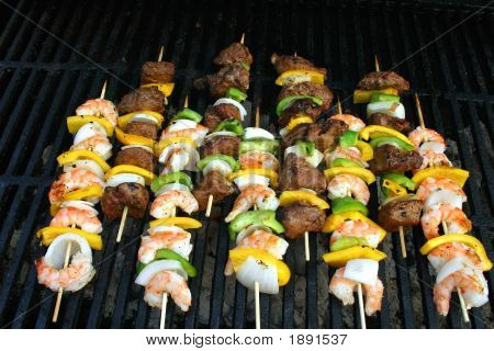 Beef And Shrimp Shish Kabobs