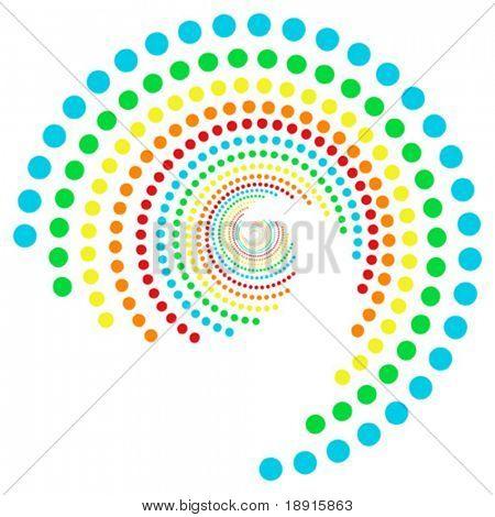 padrão de pontos de arco-íris de espiral