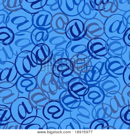 seamless at email sign background pattern, spam mail concept