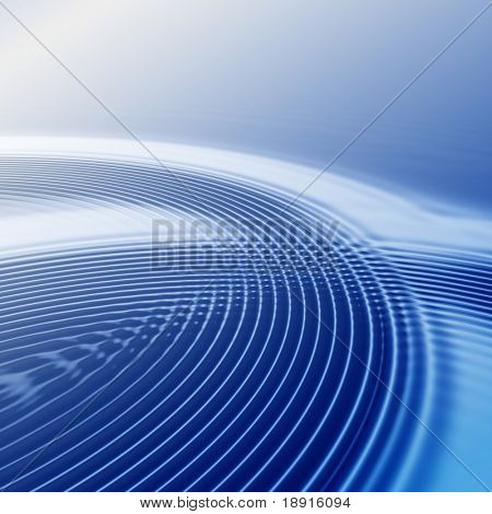elegant abstract blue ripples with interference and highlight