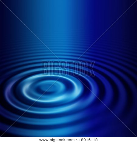 elegant abstract concentric blue ripples, plenty of copyspace, with soft highlight