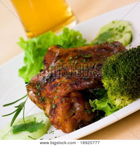 Roast chicken with beer