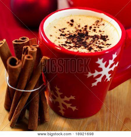 Delicioso café de Navidad con canela
